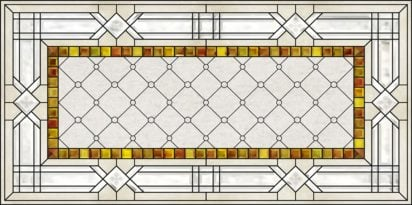 acrylic stained glass beveled autumn colors fluorescent light covers