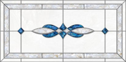 acrylic stained glass fluorescent light covers with blue and pearl accents
