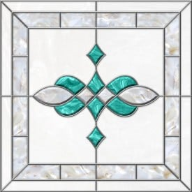 Stained-Glass-Ceiling-Panels: Stained Glass 11 Aqua Pearl