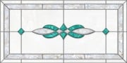 acrylic stained glass fluorescent light covers with aqua and pearl accents