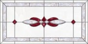 acrylic stained glass fluorescent light covers with burgundy and pearl accents