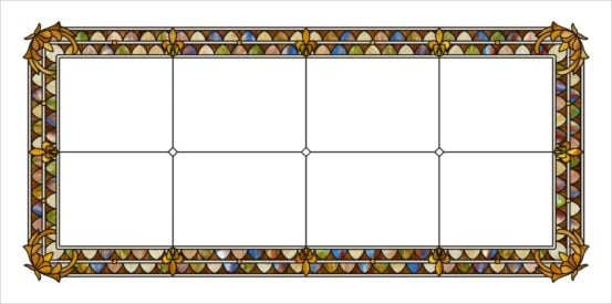 acrylic stained glass tiffany style fluorescent light covers with white background