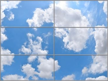 santa barbara sky ceiling fluorescent light covers in 6 panel layout