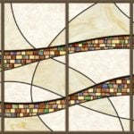 4-Panel Stained Glass Fluorescent Light Panel