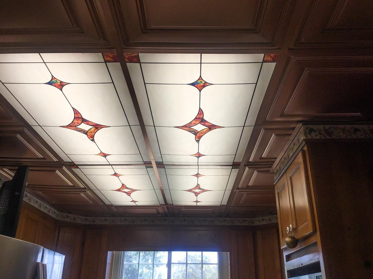 portfolio of decorative fluorescent light cover installations