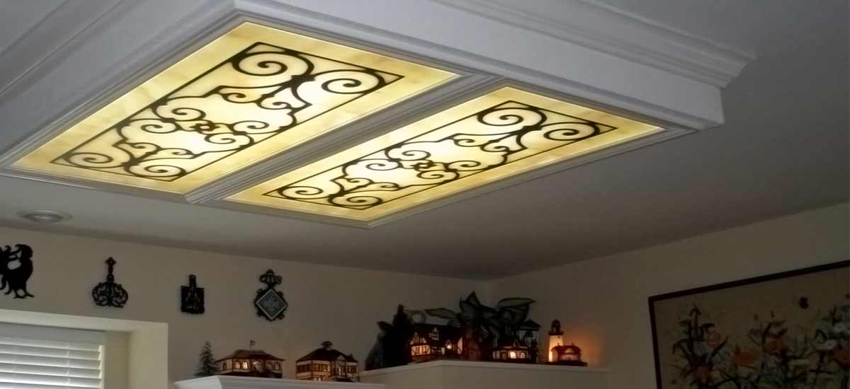 Fluorescent Light Covers & Decorative Ceiling Panels [200+ Designs]