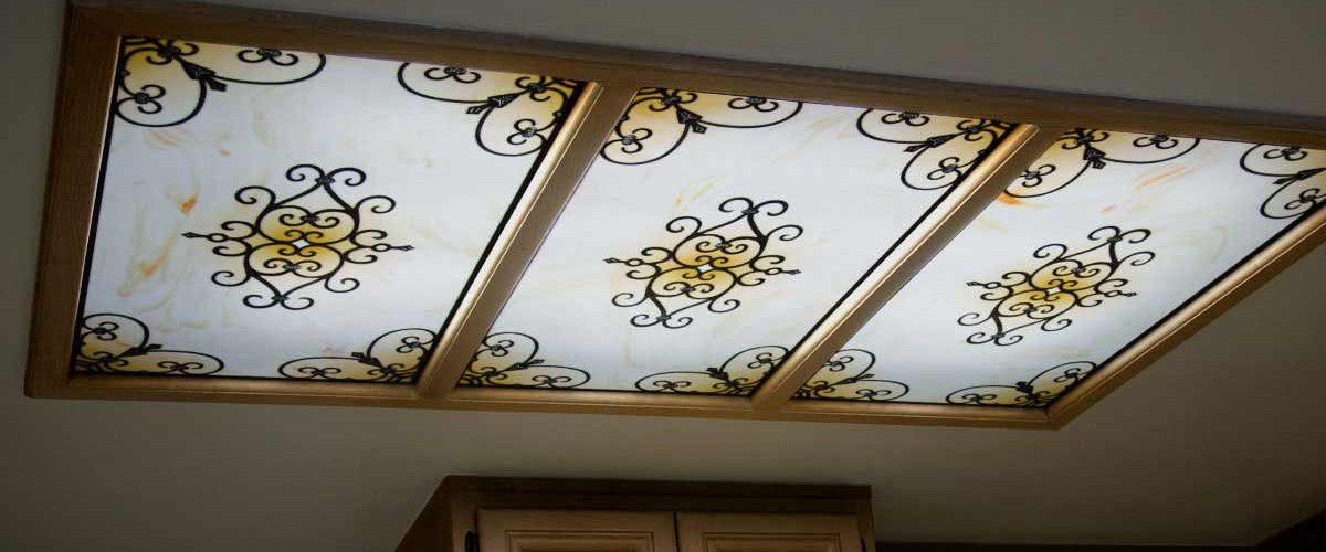 Fluorescent light covers - Tuscan Iron
