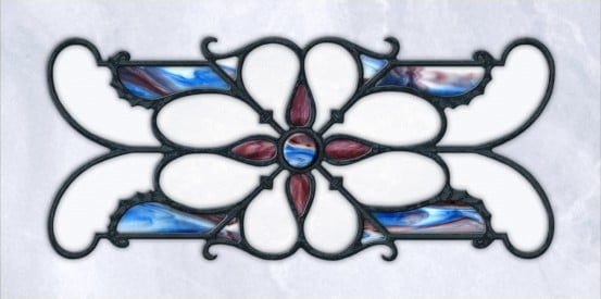 Decorative Iron Light Panels: Tuscan Iron - Ornamental Blue Marble