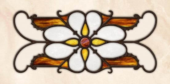 Decorative Iron Light Panels: Tuscan Iron - Ornamental Sunburst