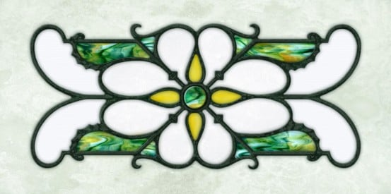 Decorative Iron Light Panels: Tuscan Iron - Ornamental Green Marble