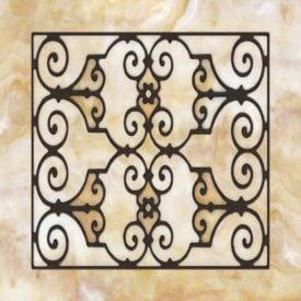Decorative Iron Light Panels: Tuscan Iron - Ornamental Amber