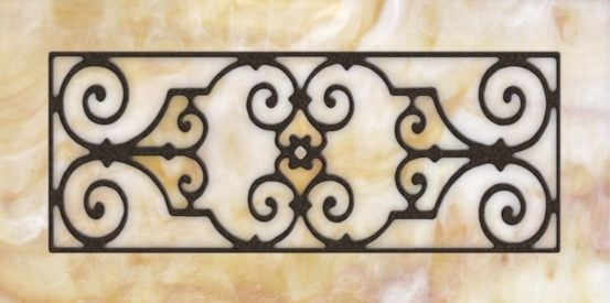 Decorative Iron Light Panels: Tuscan Iron - Ornamental Amber