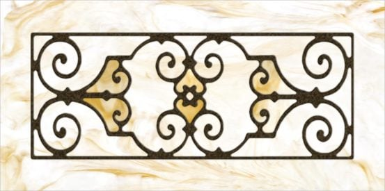 Decorative Iron Light Panels: Tuscan Iron - Ornamental Caramel Swirl