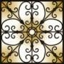 Decorative Iron Light Panels: Tuscan Iron - Ornamental Copper