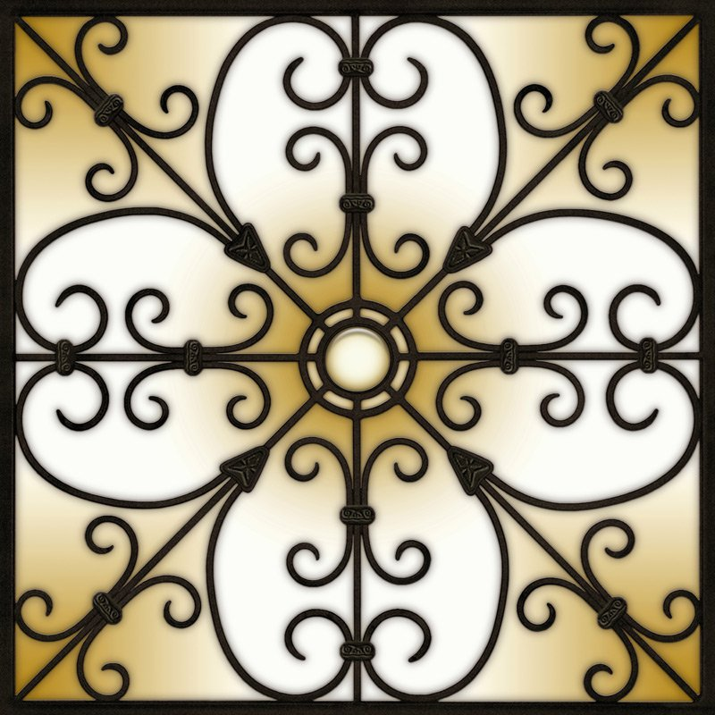 Decorative Iron Light Panels: Tuscan Iron - Ornamental Copper