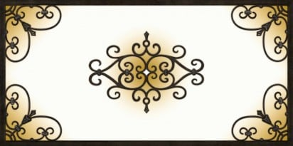 Decorative Iron Light Panels: Tuscan Iron - Copper