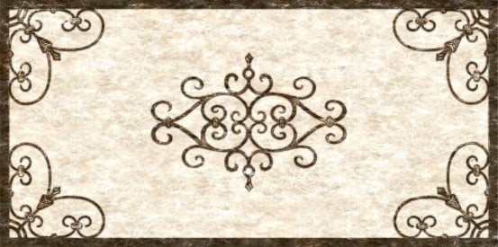 fluorescent light cover with the rustic look of tuscan iron design and antique background