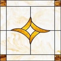 Stained-Glass-Ceiling: Stained Glass6 Gold Centerpiece