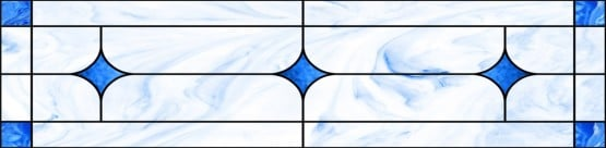 Stained-Glass-Ceiling: Stained Glass6 Blue Accessory