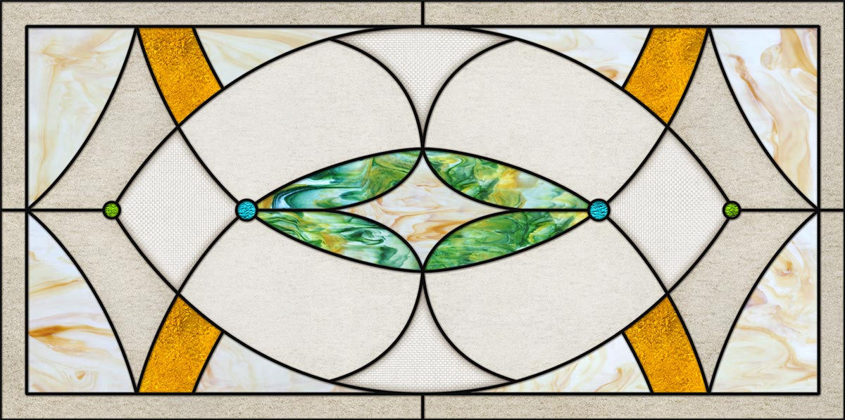 Stained Glass 10 Fluorescent Light Covers Fluorescent