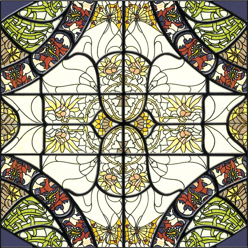 Stained-Glass-Ceiling-Panels: Stained1 Blue