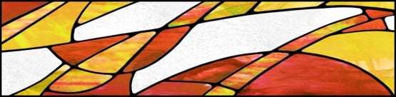 fluorescent light covers in abstract style and fall colors