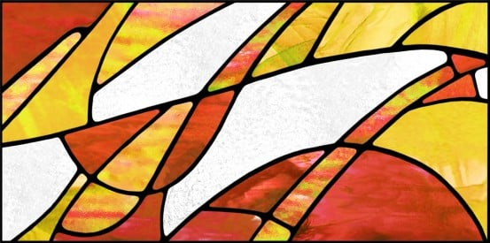 abstract acrylic fluorescent light covers with fall colors