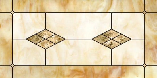 Stained-Glass-Ceiling-Panels: Marbled Glass Amber 121