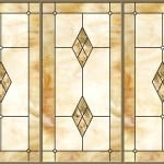Stained-Glass-Ceiling-Panels: Marbled Glass Amber 3-Bay