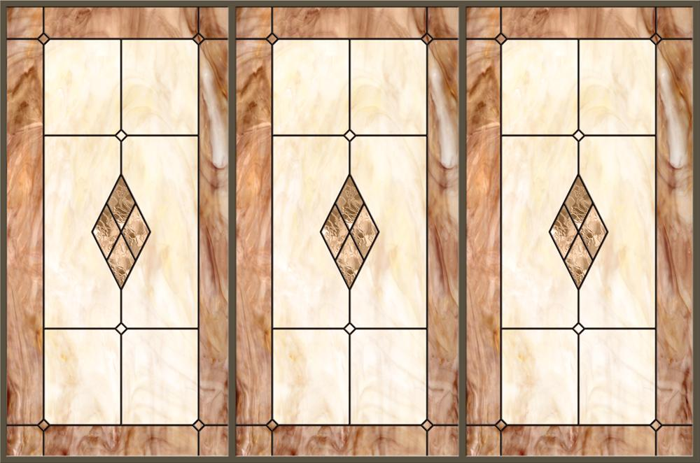 Stained-Glass-Light-Panels: California Gold 3-Bay