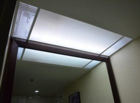 Hotel Light Panel Installation Ivory Cloth